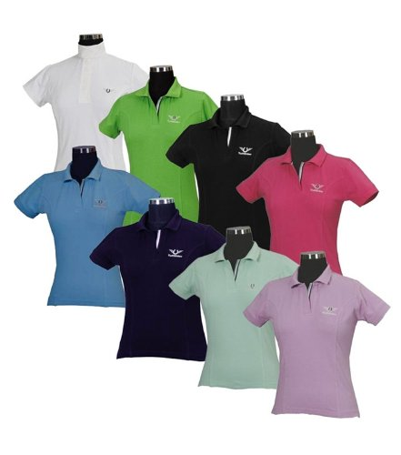 TuffRider Damen Poloshirt XXL Ocean