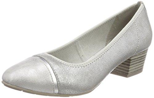 Jana Damen 22300 Pumps, Silber (Silver), 38 EU