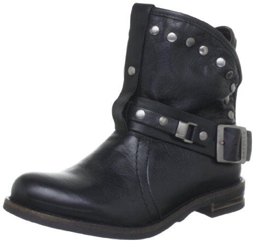Buffalo London Damen ES ES 30239 Garda Biker Boots, Schwarz
