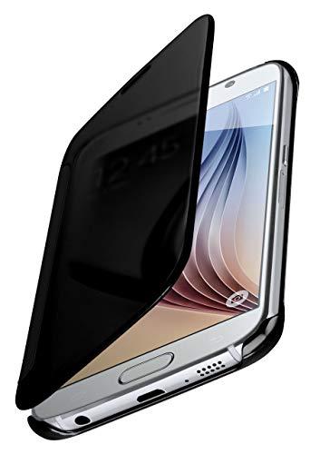 moex Samsung Galaxy S6 | Hülle Transparent TPU Void Cover Dünne Schutzhülle Anthrazit Handyhülle für Samsung Galaxy S6 Case Ultra-Slim Handy-Tasche mit Sicht-Fenster