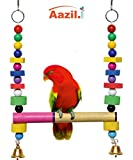 #7: Azil Multi Color Hanging Parrot - Birds Swing Toy (Large)