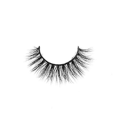 Arison Lashes Faux Cils 3D 100% Fait Main Cross Noir Allongement Volumineux Vison Authentique Pour Maquillage Yeux (Abril)