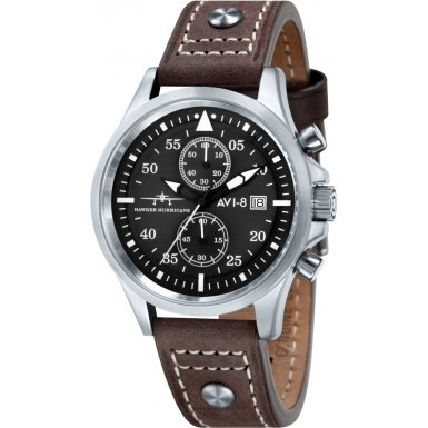 avi-8-av-4013-02-mens-hawker-hurricane-brown-chronograph-watch