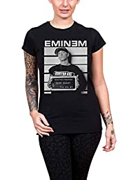 Eminem T Shirt Arrest logo slim shady Nue offiziell damen Skinny Fit