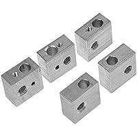 HICTOP 5PCS Aluminium Heizblock M6 Specialized für MK7 MK8 MakerBot Medel I3 3D-Drucker Extruder Hot End Heizblock