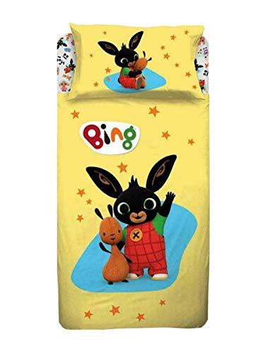 Bing bunny bing completo letto 1 piazza, giallo