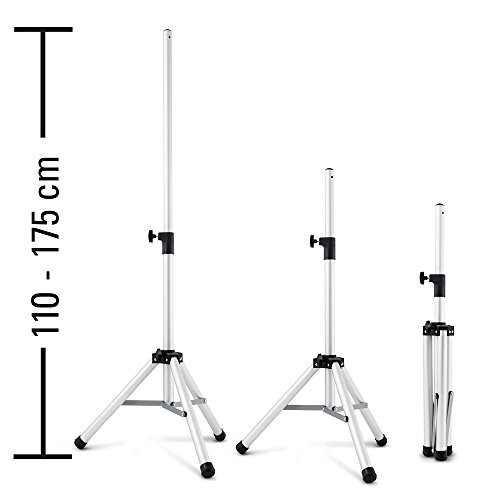 TROTEC 3-Bein-Stativ Teleskopstativ – Höhenverstellung 110 – 175 cm Teleskopauszug - passend für TROTEC Infrarotstrahler Terassenstrahler IR 2500 S und IR 2550 S