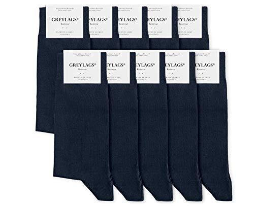 Greylags Premium 10er Pack Businesssocken Socken für Damen und Herren, Blau, Größe 39-42