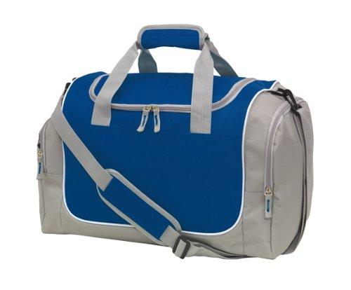 """Inspiron Sporttasche""""Gym""""600-D, grau/hellblau, ca. 48 x 30 x 27 cm grau dunkelblau"""