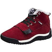 Zapatos de hombre JiaMeng Hombres Zapatillas Moda Botas Bajas del Tobillo del Tobillo Plano Invierno cálido Otoño Botas Calzado Deportivo Informal