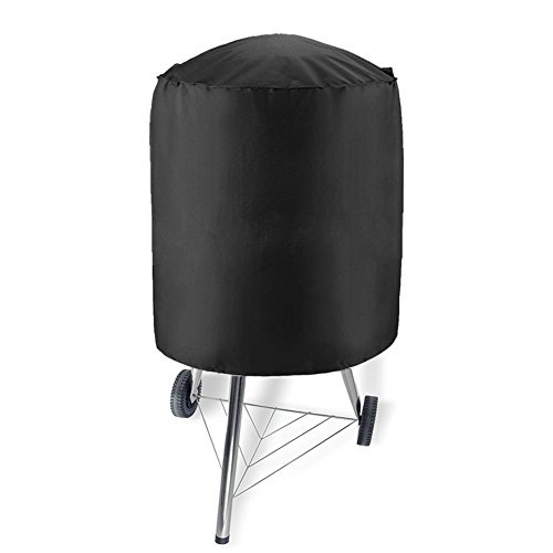 Mom-baby.store Heavy Duty Waterproof Dome Smoker Cover, Kettle Grill Cover, Barrel Cover, Water Smoker Cover, Fit Grill/Smoker for Weber Char-Broil and more (70x70)