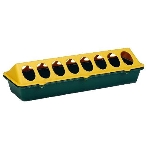 Beeztees 18131 Futtertrog für Küken aus Plastik, 30 cm, gelb / grün
