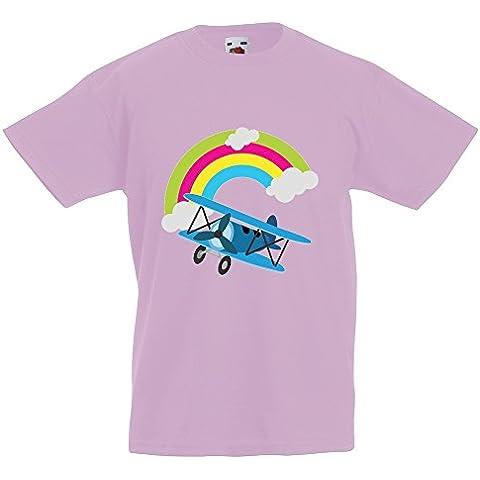 Bambini Collezione 207, Fruit of the Loom Valueweight Tee Rosa Pastello Bambino Ragazzo Maglietta Kids Boys T-Shirt. Taglia 92 98 104 116 128 140 152 164, 1-15