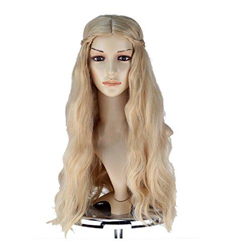 schlafend Beauty Perücke Princess Aurora Cosplay Kostüm Perücke Wig langes lockiges Wavy Haar (Maleficent' Kostüm Erwachsene Aurora)