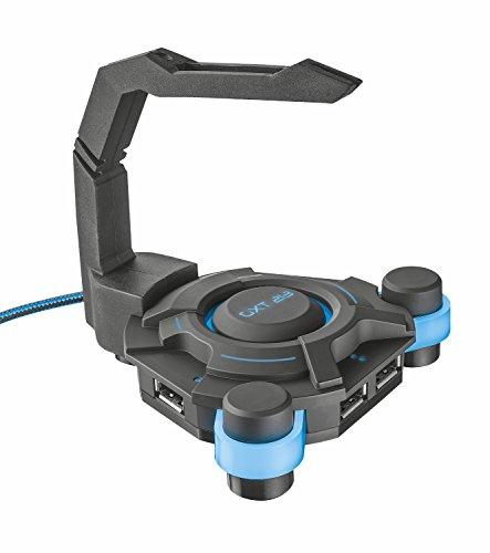 Trust GXT 213 USB HUB con Mouse Bungee, 4 Conectores y ratón Integrado...