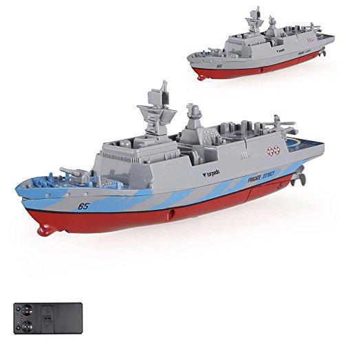 HSP Himoto RC ferngesteuertes Mini Kriegsschiff, Fregatte, Schlachtschiff, Schiff, Boot, Komplett-Set inkl. integr. Akku, 2,4Ghz Fernsteuerung,, OVP