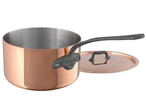 5.5 Quart-cast (Mauviel M'Heritage M150C 6450.15 Copper Saucepan with Lid. 1.18L/1.2 quart 14cm/5.5