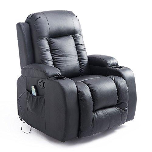 Newsbenessere.com 416WUvR4VkL HOMCOM – Poltrona massagiante a Dondolo 8 Punti di Massaggi in Ecopelle