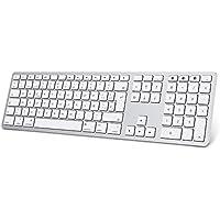 Teclado Inalambrico para MAC OS ( Macbook, Mac Mini, iMac, Mac Pro), Teclado Recargable, Teclado Bluetooth para MAC OS, OMOTON, 3 Bluetooths,