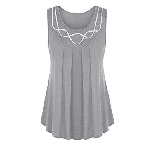 FNKDOR Summer Women Weekend Party Elegant Suit Sleeveless O-Neck Pure Color Plus Size Vest Blouse Top Tunic Shirt Friend's Gifts
