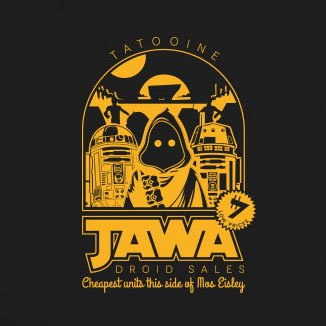 Jawa Droid Sales - Stofftasche / Beutel Pink