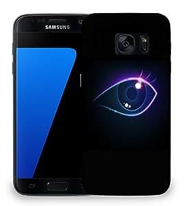 Snoogg Neon Eye Designer Protective Back Case Cover For SAMSAMSUNG S7