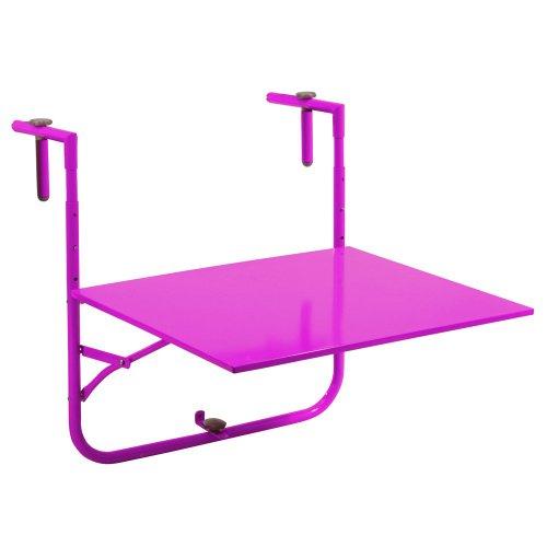 Balkontisch Klapptisch pink Metall 60x53cm