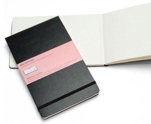 Moleskine Large - Aquarellbuch - Fester Einband - Schwarz