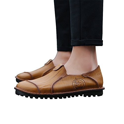 Lisianthus002 , Mocassins pour homme Light Brown-1