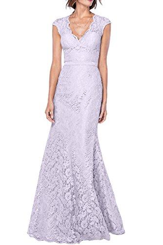 Gorgeous Bride Elegant V-Ausschnitte Meerjungfrau Prom Festlich Lang 2017 Damen Partykleider Abendkleider Lang Cocktailkleider Ballkleider Lilac