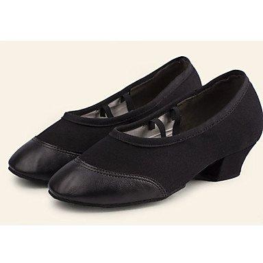 XIAMUO nicht anpassbar - die Frauen tanzen Schuhe synthetische Synthetische Dance Sneakers Heels Cuban Heel Praxis Schwarz/Rot Schwarz