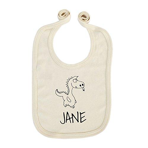 JOllipets Baby Kinder Lätzchen - JANE - 100% BIO ORGANISCH - Design: Drache - ONE SIZE (Jane Drache)