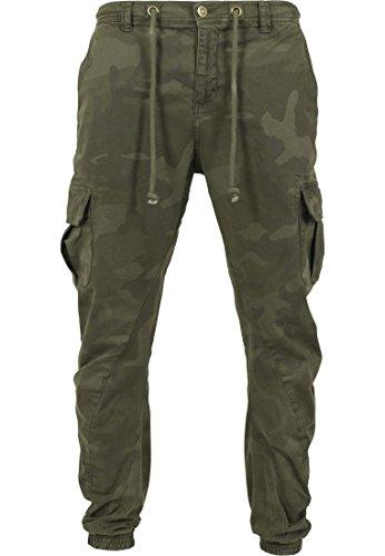 Urban Classics Herren Camo Cargo Jogging Pants Hose, Olive, W40 -