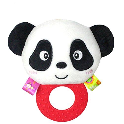 TOYMYTOY Babyrassel Hand Bell Spielzeug Plüsch Rassel Puppen Geschenke für Kleinkinder (Panda)