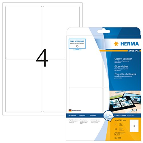 Herma 4908 - Pack de 100 etiquetas