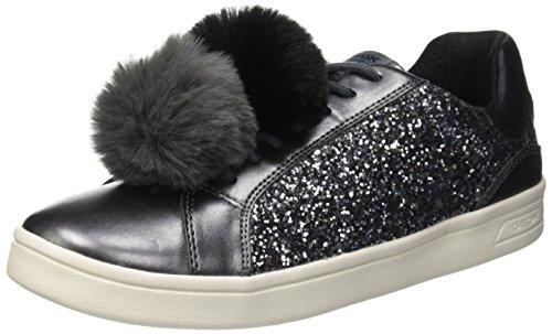 Geox Mädchen J Djrock Girl D Slip on Sneaker, Grau (Dk Grey C9002), 39 EU