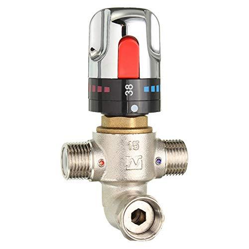 Preisvergleich Produktbild Faway Thermostatarmatur Ventil Wasser Thermostat Regelventil Chrom Eckheizkörper Ventil Set