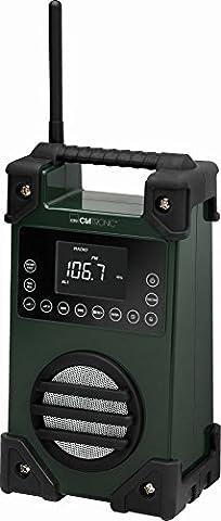 Baustellenradio Werkstattradio Bauradio Netzteil Akku AUX-IN Outdoor Radio Tragbar USB