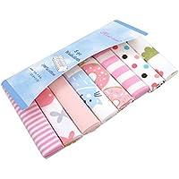 CuteOn Paquete de 8 Súper Suave Bebé Washcloth Alimentación Limpiar Paño para Recién nacido Chicos & Chicas