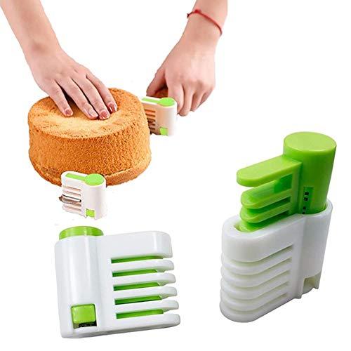 pittospwer 2Pcs Verstellbarer Schneidemaschine für Pane Torten FAI-da-Te 5 Schichten Nudelmaschine Gadget Küchenmaschinen grün