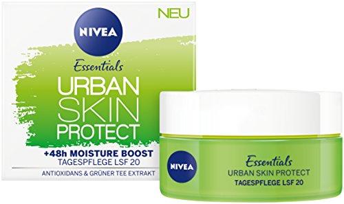 Nivea Essentials Urban Skin Protect Tagespflege, Lichtschutzfaktor 20, 3er Pack (3 x 50 ml), mit...