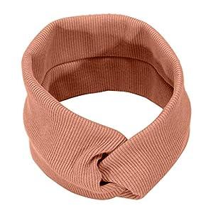 SoundJA Haarband-Stirnband Haarnadel Einfarbig Gestricktes Haarband Stirnband mit Schleife Wasseraufnahme Langlebig…