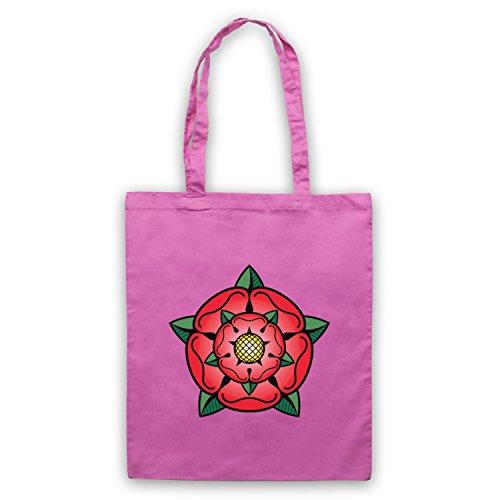 Tudor Rose British Regal Araldico Simbolo Umhangetaschen Rosa