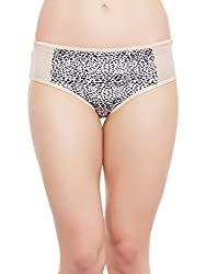 Clovia Womens Mid Waist Animal Print Bikini (PN1306P24_Beige_Medium)
