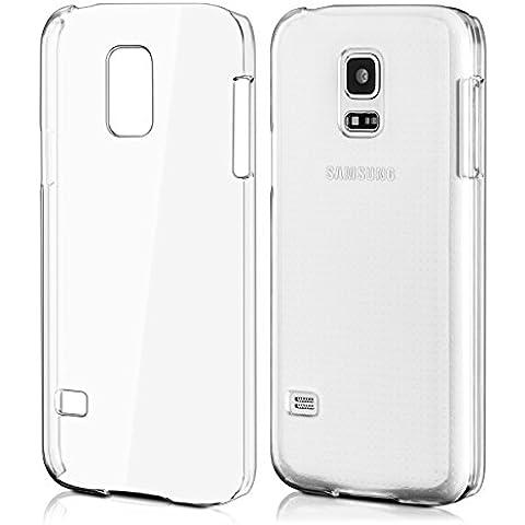kwmobile Elegante funda rígida transparente ultrafina para Samsung Galaxy S5 Mini en transparente - Mejora el diseño de su Samsung Galaxy S5 Mini