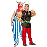 Parejas – Asterix & Obelix Viking Vikings años 60 1960s Disfraces de Do Fancy disfraz de TV Cartoon película trajes tamaño grande