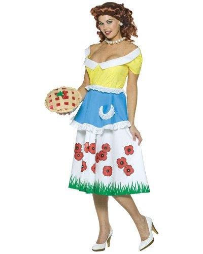 Hausfrauen 50 Kostüm - Generique - 50er-Jahre-Kostüm Hausfrauen-Kostüm mit Kuchen bunt M / L