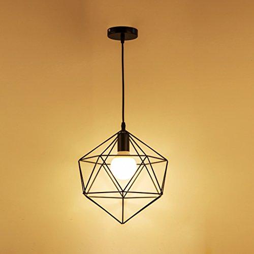 TMY Moderner kreativer Metallleuchter, hängende Deckenleuchte-Lampe für Stab-Gang-Restaurant, Pers5onlichkeit-Kunst-hängende Lichter E27 hängende Lichter Kronleuchter ( Color : G-30*30CM ) (G30 Eisen)