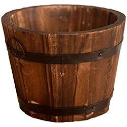 AmgateEu rústico de madera maceta flores cubo