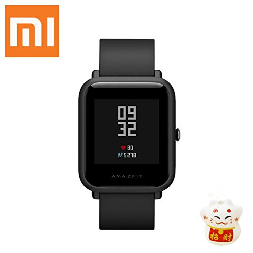 XIAOMI Amazfit bip Smartwatch Bluetooth Smart Watch with GPS Heart Rate Monitor Real-time Waterproof Sports Fitness Tracker Support iOS and Android for Kids Men Women